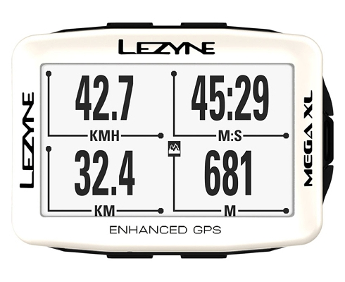 LEZYNE MEGA XL GPS WHITE Limited