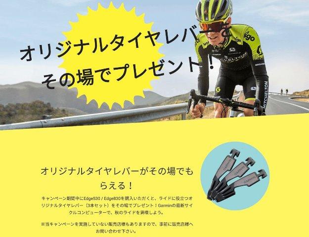 GARMIN タイヤレバーキャンペーン